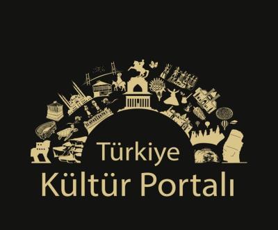 Türkiye Kültür Portalı Füme Zemin Üzerine Altın Rengi Logosu