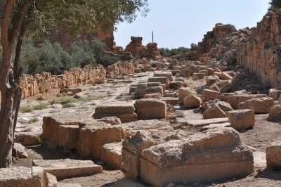 Dara Antik Kenti- Saray Yolu ve Çarşı (Agora), Fotoğraf: Baki ATEŞ